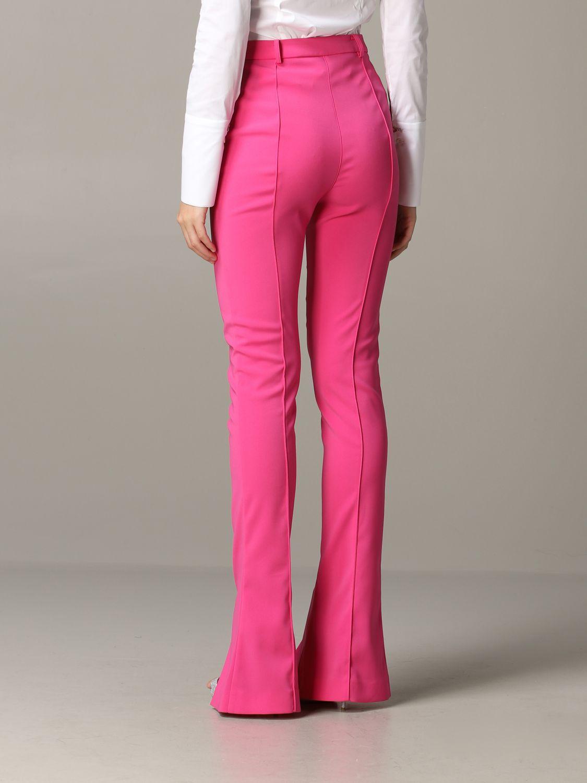 Pantalone Patrizia Pepe in raso opaco fuxia 3