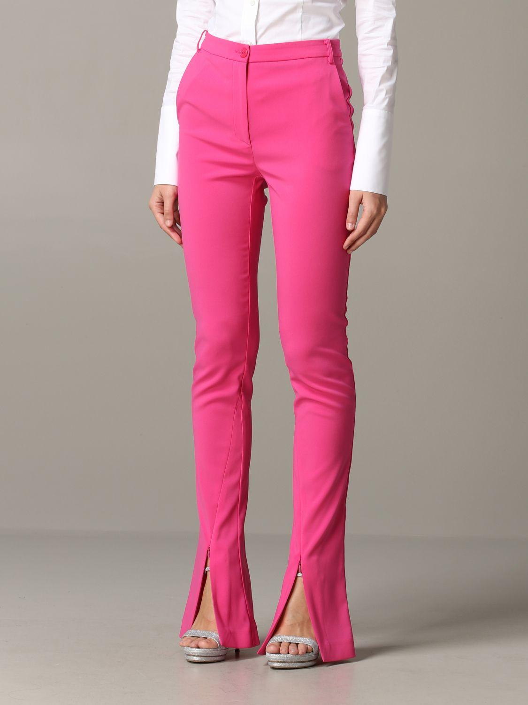 Pantalone Patrizia Pepe in raso opaco fuxia 4