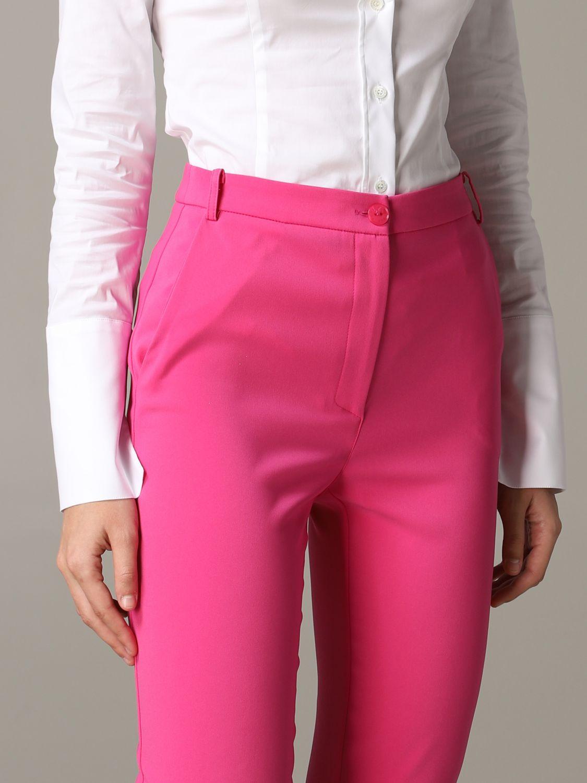 Pantalone Patrizia Pepe in raso opaco fuxia 5