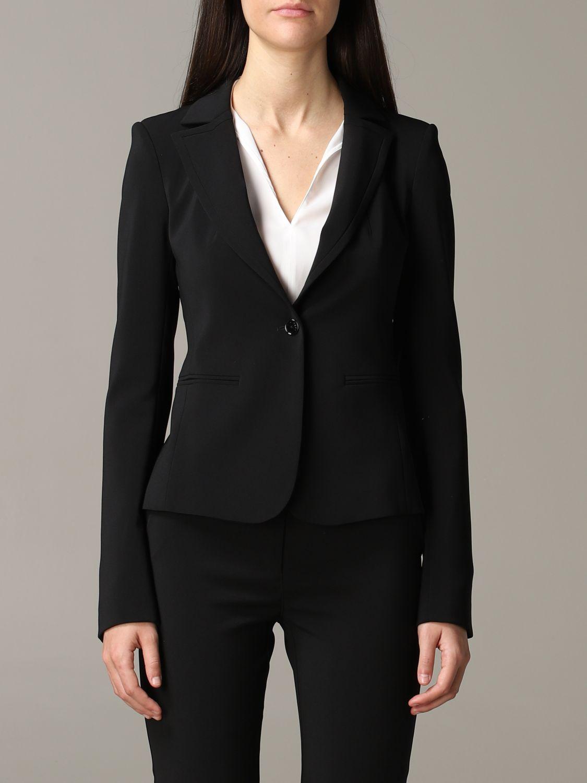Patrizia Pepe single-breasted jacket black 1