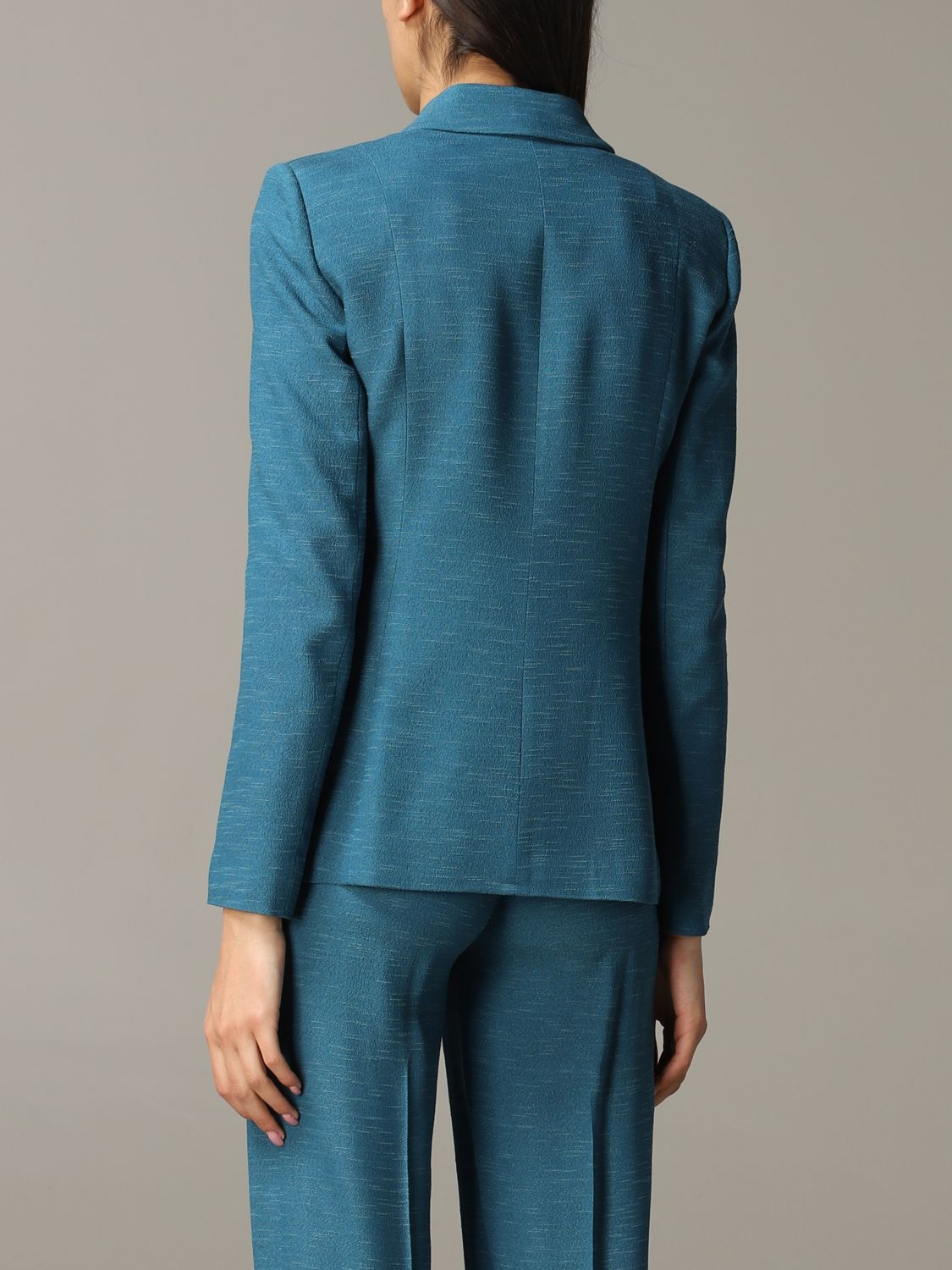 Patrizia Pepe double-breasted jacket teal 3