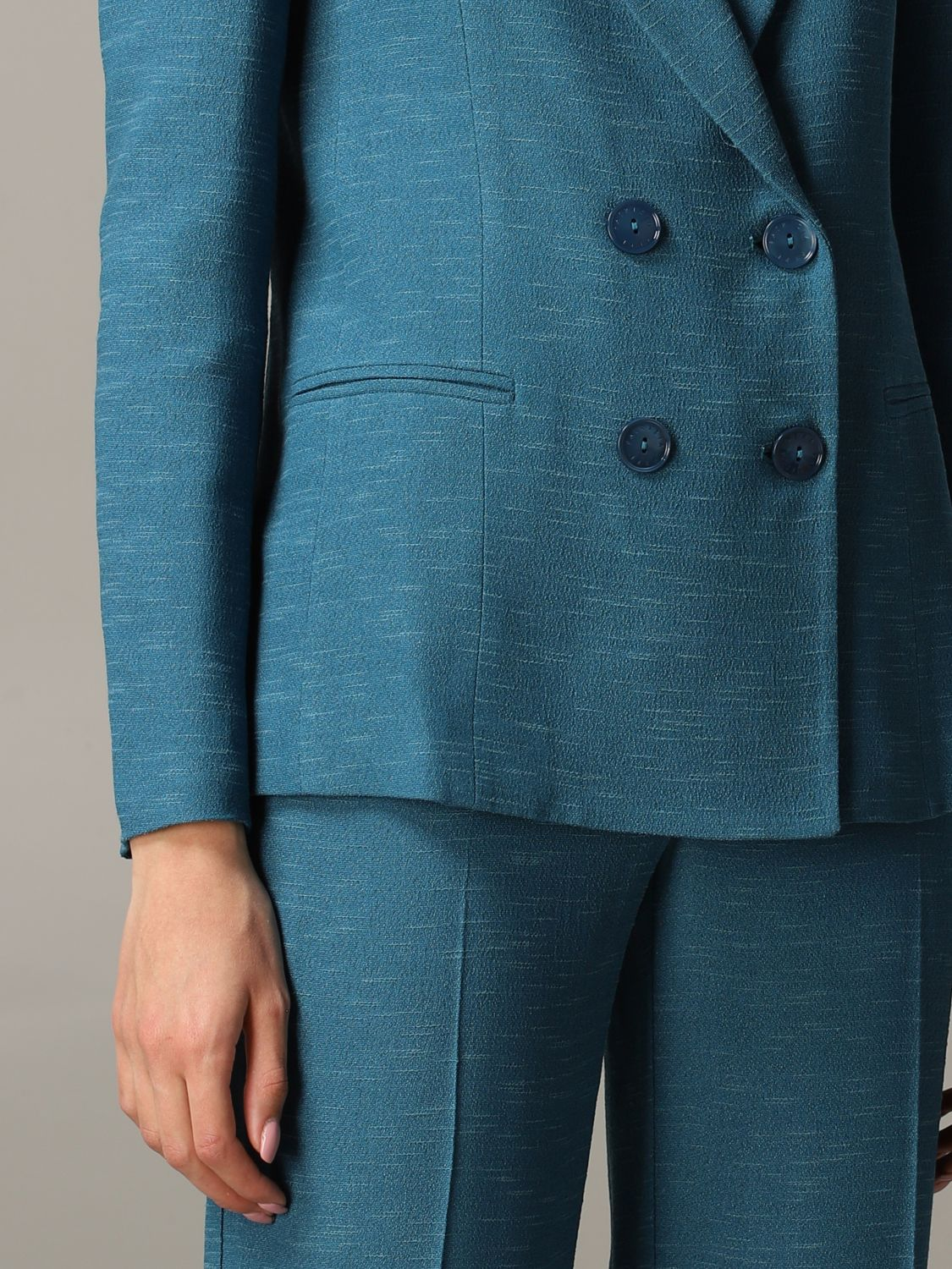 Patrizia Pepe double-breasted jacket teal 5