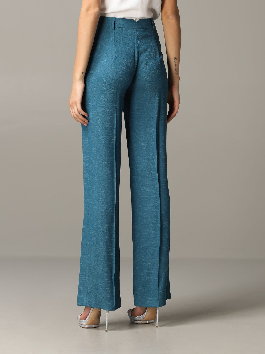 Patrizia Pepe wide trousers teal 3