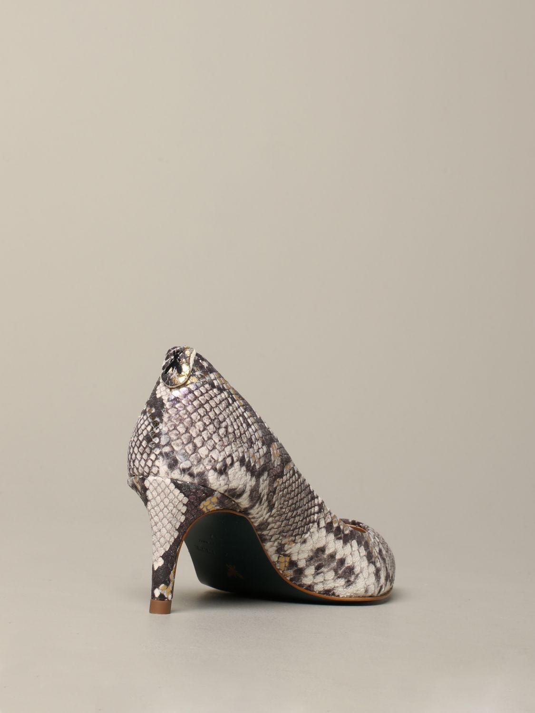 Patrizia Pepe Pumps aus Leder mit Python-Print beige 5