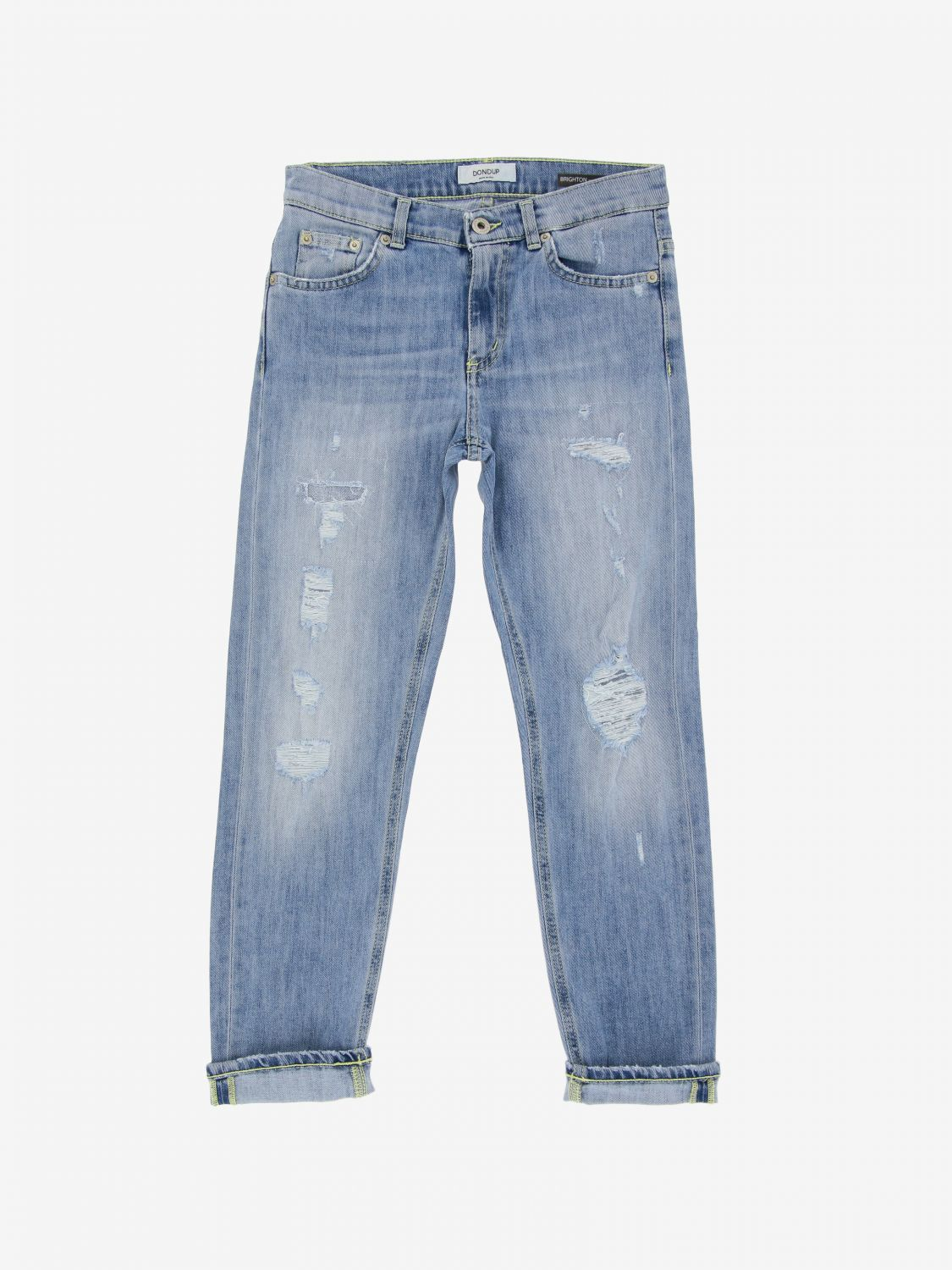 Jeans Dondup: Jeans Brighton Dondup used con rotture sstw 1