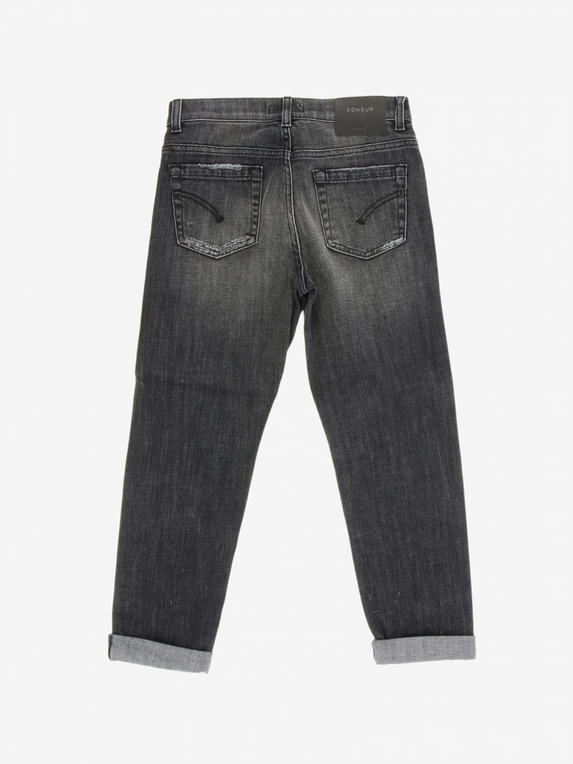 Jeans Dondup: Jeans Brighton Dondup carrots fit con rotture nero 2