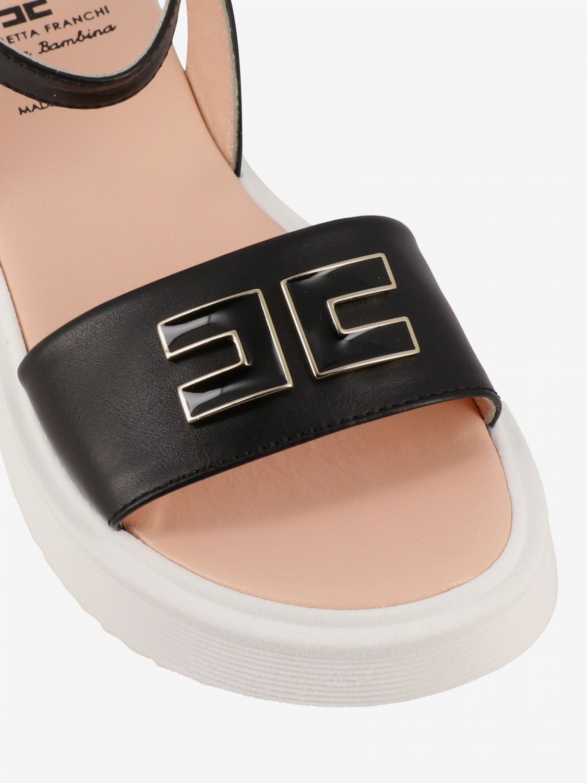 Shoes kids Elisabetta Franchi black 4