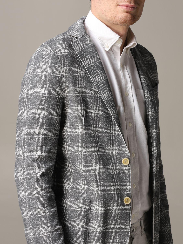 Blazer Eleventy: Eleventy Jacke aus Tartan-Jersey grau 5