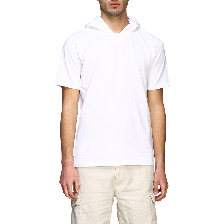 T-Shirt Eleventy: Eleventy T-Shirt mit Kapuze weiß 1