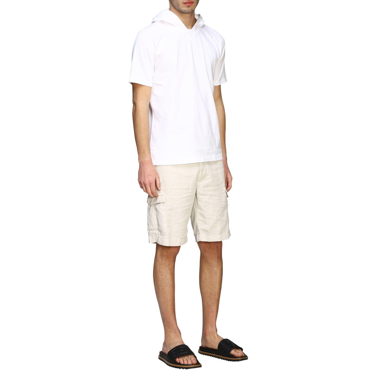 T-Shirt Eleventy: Eleventy T-Shirt mit Kapuze weiß 2