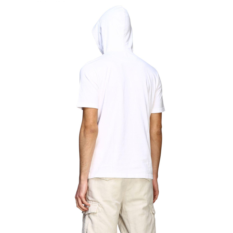 T-Shirt Eleventy: Eleventy T-Shirt mit Kapuze weiß 3