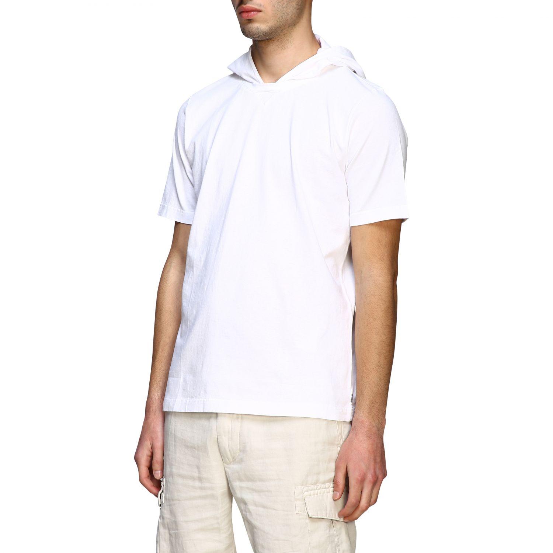 T-Shirt Eleventy: Eleventy T-Shirt mit Kapuze weiß 4