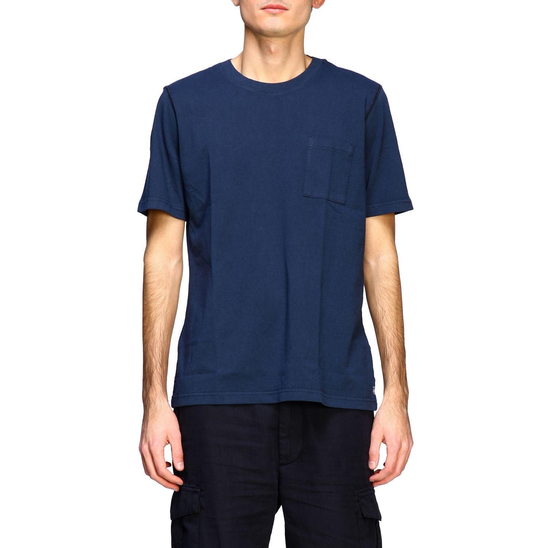 T-shirt Eleventy: Eleventy basic short-sleeved T-shirt with pocket blue 1
