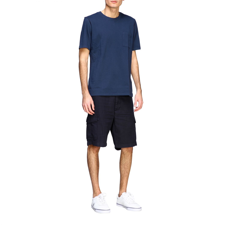 T-shirt Eleventy: Eleventy basic short-sleeved T-shirt with pocket blue 2