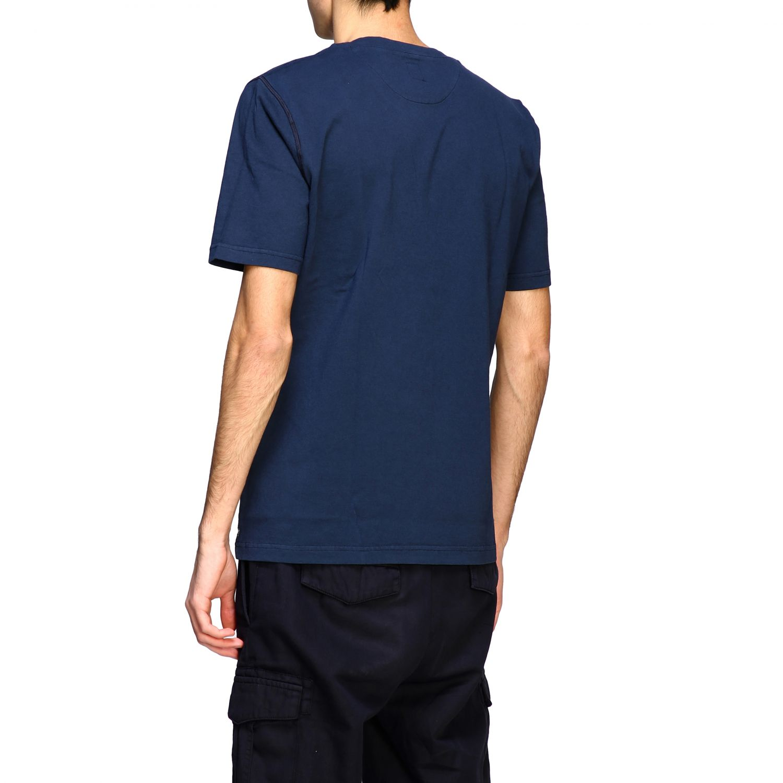 T-shirt Eleventy: Eleventy basic short-sleeved T-shirt with pocket blue 3