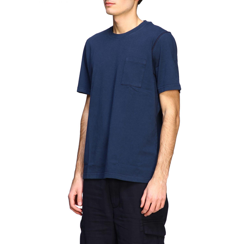 T-shirt Eleventy: Eleventy basic short-sleeved T-shirt with pocket blue 4