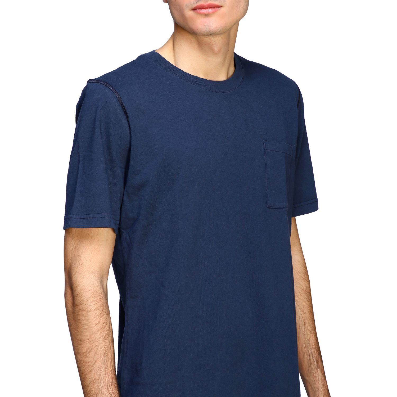 T-shirt Eleventy: Eleventy basic short-sleeved T-shirt with pocket blue 5