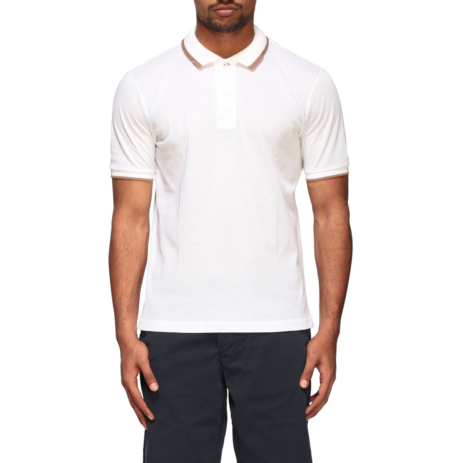 Polo shirt Eleventy: Eleventy Platinum short-sleeved polo shirt white 1