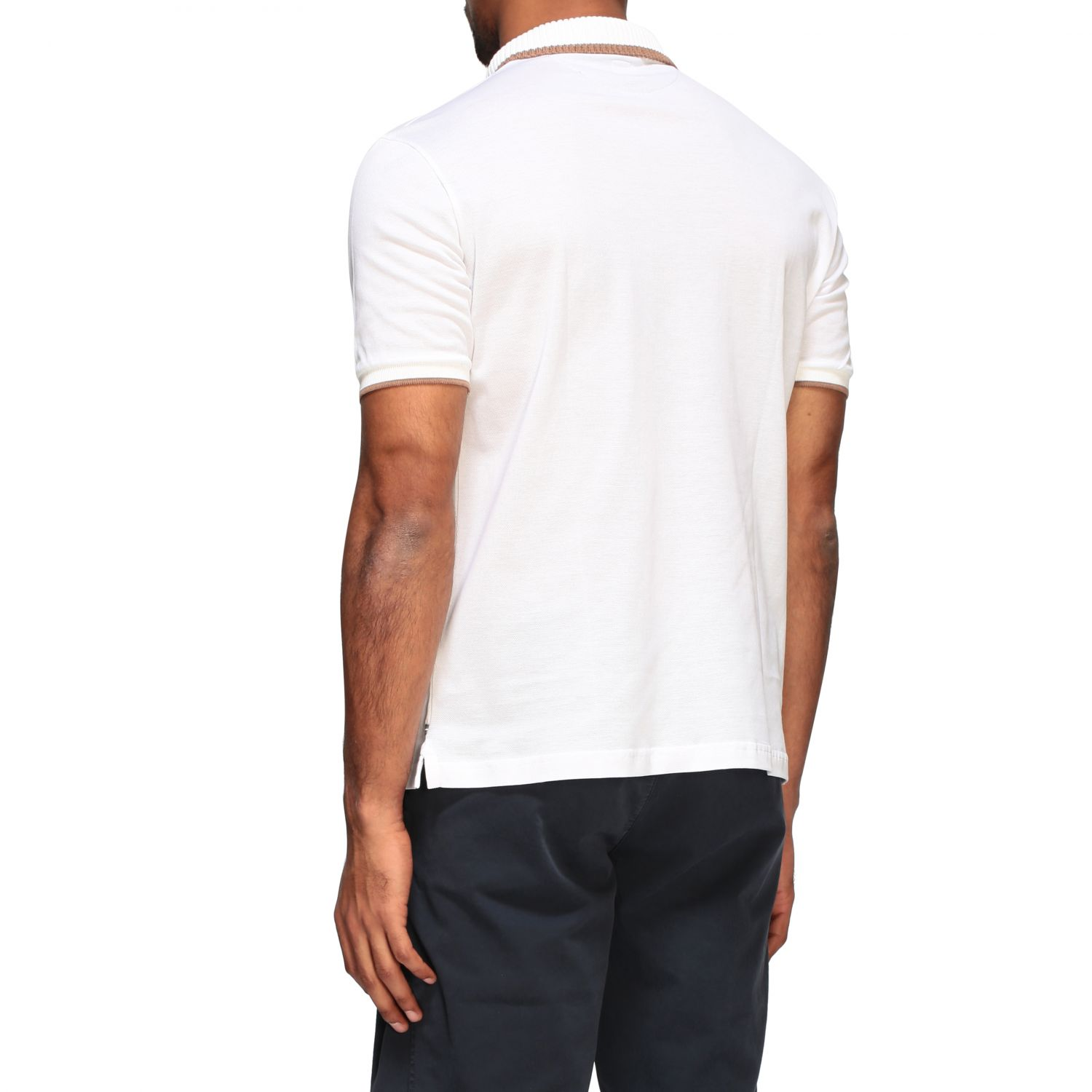 Polo shirt Eleventy: Eleventy Platinum short-sleeved polo shirt white 3