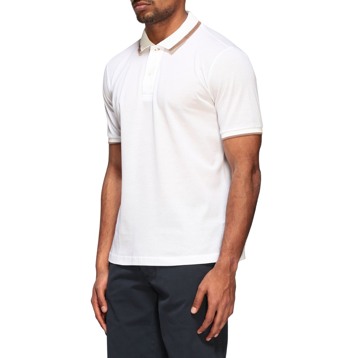 Polo shirt Eleventy: Eleventy Platinum short-sleeved polo shirt white 4