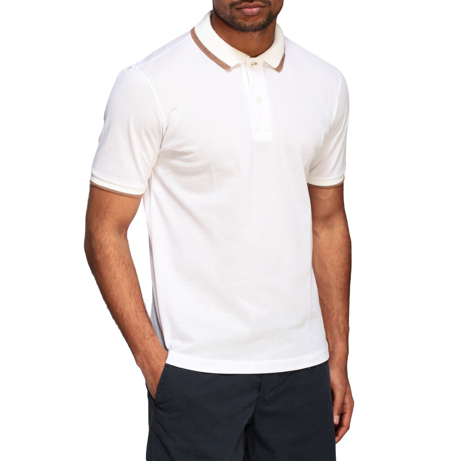 Polo shirt Eleventy: Eleventy Platinum short-sleeved polo shirt white 5