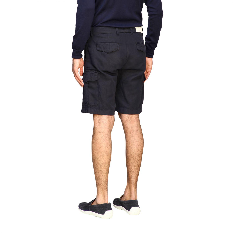 Eleventy Kargo Bermudas aus Baumwolle und Leinen navy 3