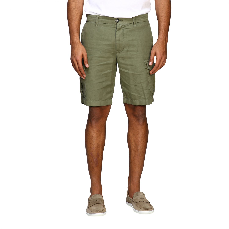 Short Eleventy: Eleventy kargo bermuda shorts in cotton and linen military 1