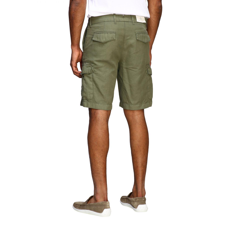 Short Eleventy: Eleventy kargo bermuda shorts in cotton and linen military 2