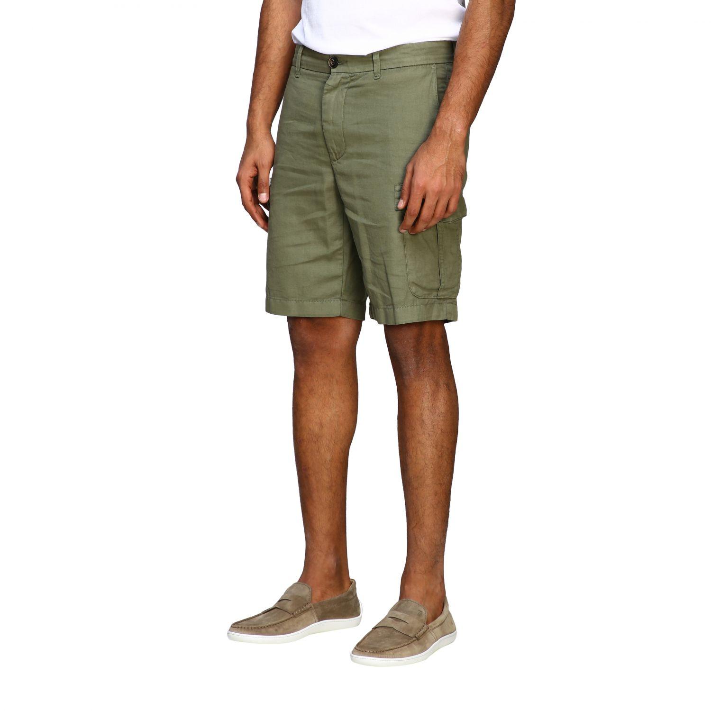 Short Eleventy: Eleventy kargo bermuda shorts in cotton and linen military 3
