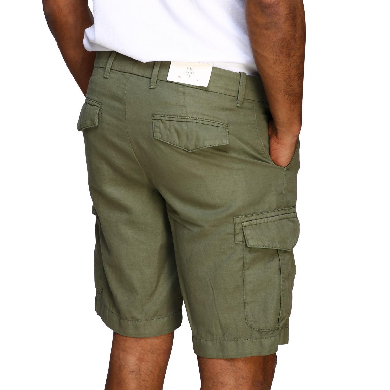 Short Eleventy: Eleventy kargo bermuda shorts in cotton and linen military 4