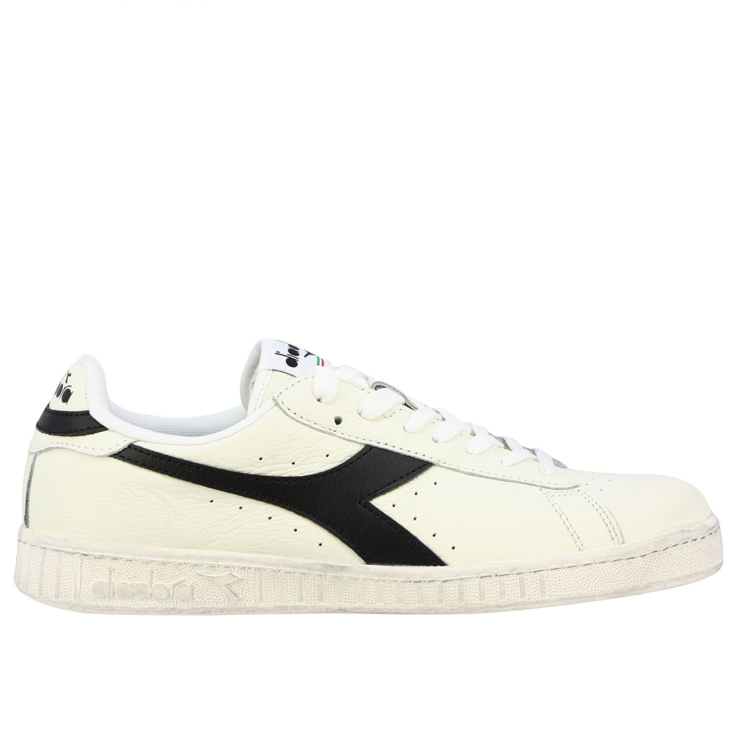 Sneakers Diadora: Diadora Game l low waxed sneakers in textured leather white 1 1