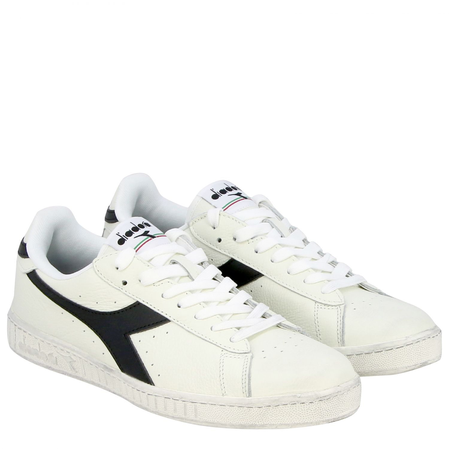 Sneakers Diadora: Diadora Game l low waxed sneakers in textured leather white 1 2