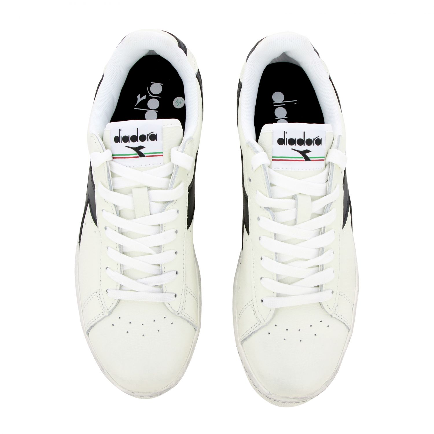 Sneakers Diadora: Diadora Game l low waxed sneakers in textured leather white 1 3