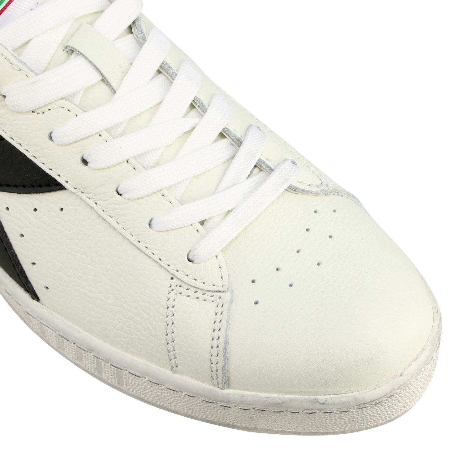 Sneakers Diadora: Diadora Game l low waxed sneakers in textured leather white 1 4
