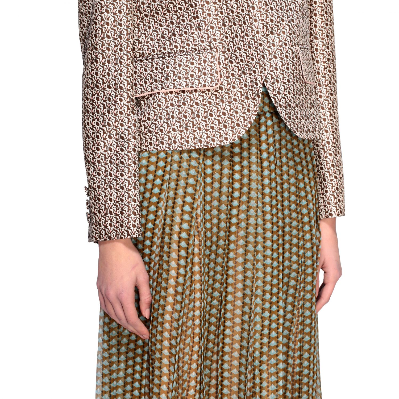 Veste Fendi over en soie lavée | Blazer Fendi Femme Brun