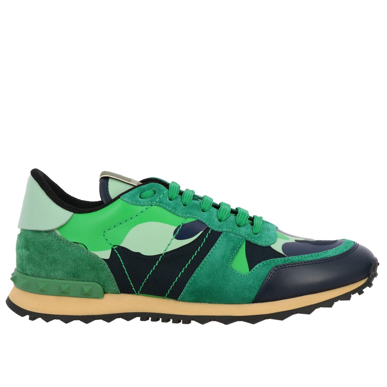 Sneakers Rockrunner Valentino Garavani in tela camouflage verde 1