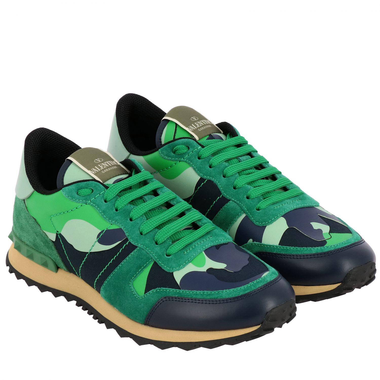 Sneakers Rockrunner Valentino Garavani in tela camouflage verde 2