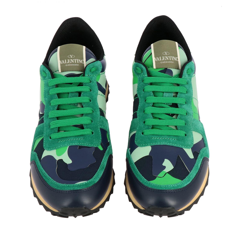 Sneakers Rockrunner Valentino Garavani in tela camouflage verde 3