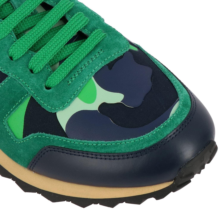 Sneakers Rockrunner Valentino Garavani in tela camouflage verde 4