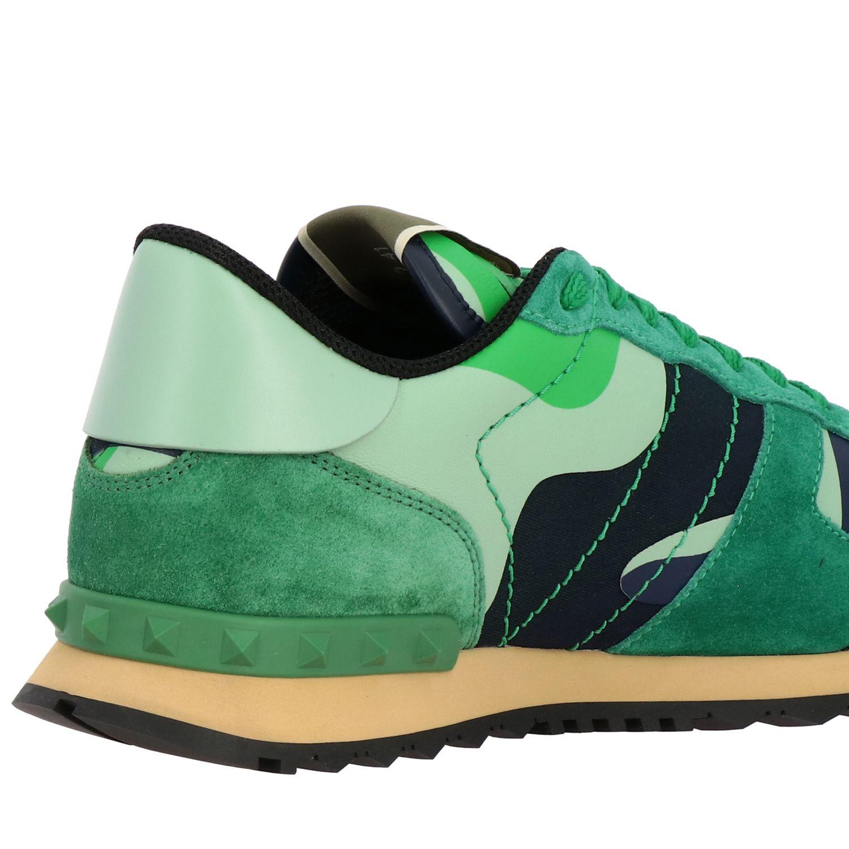 Sneakers Rockrunner Valentino Garavani in tela camouflage verde 5