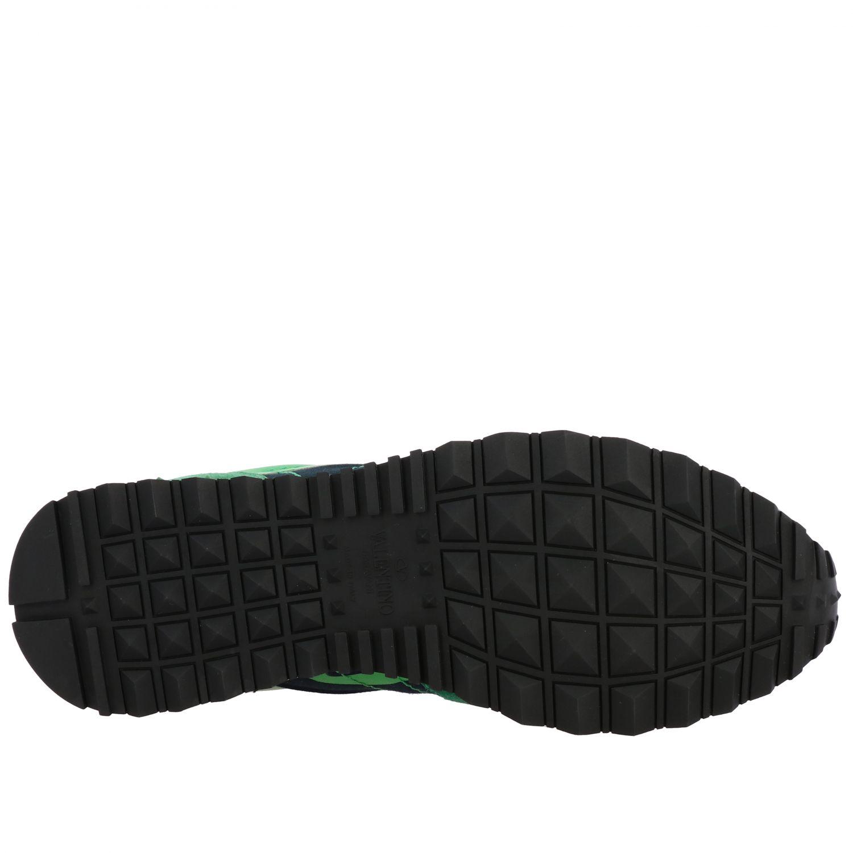 Sneakers Rockrunner Valentino Garavani in tela camouflage verde 6