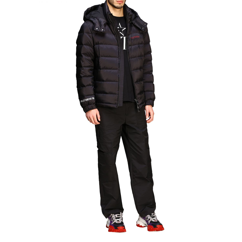 Куртка Valentino: Куртка со съемным капюшоном и логотипом Мужское Valentino черный 2
