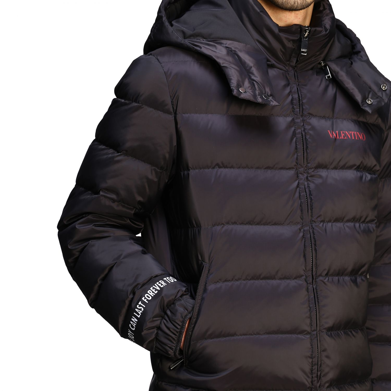Куртка Valentino: Куртка со съемным капюшоном и логотипом Мужское Valentino черный 5