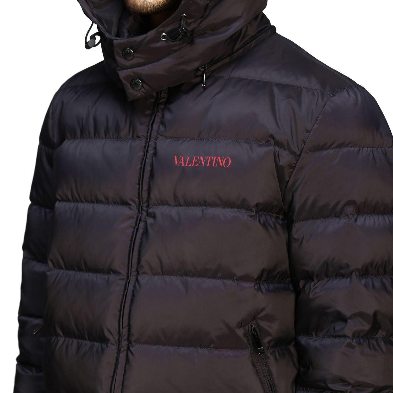 Куртка Valentino: Куртка со съемным капюшоном и логотипом Мужское Valentino черный 6