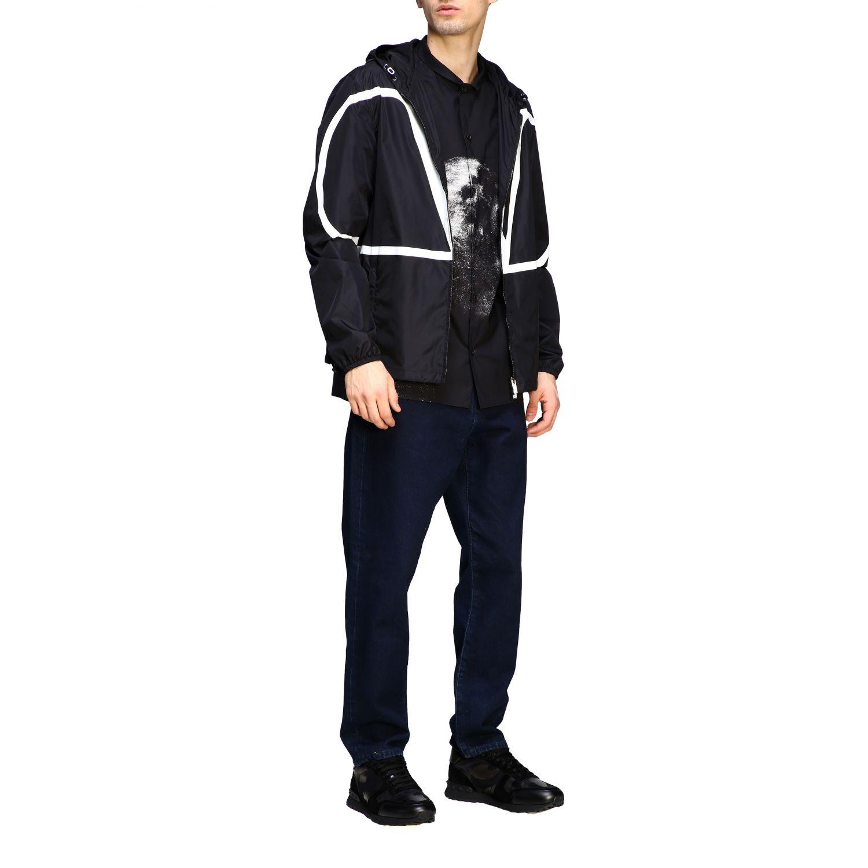 Chemise Valentino: Chemise en coton Valentino avec imprimé moon noir 2