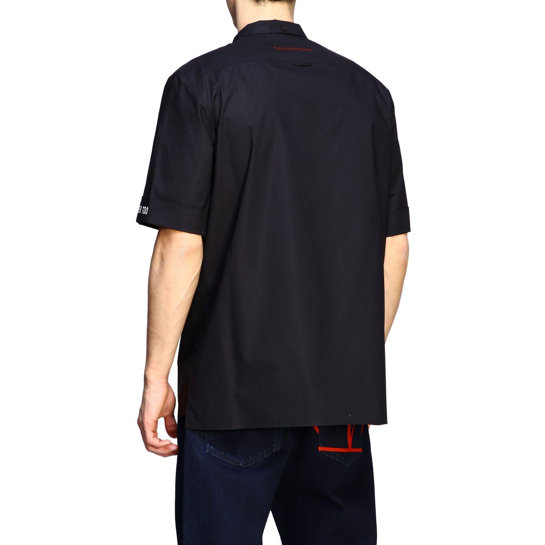 Chemise Valentino: Chemise en coton Valentino avec imprimé moon noir 3