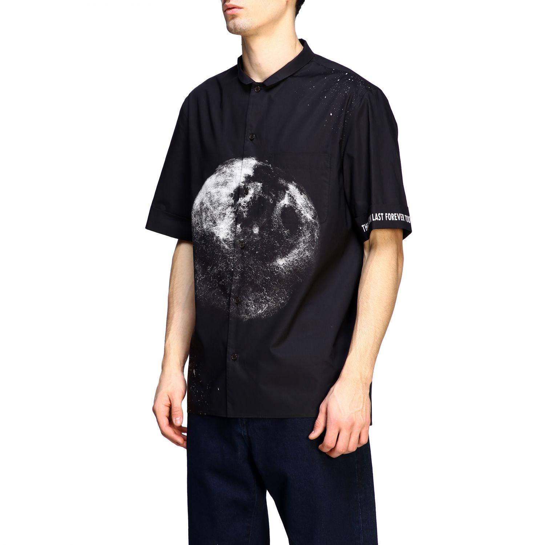 Chemise Valentino: Chemise en coton Valentino avec imprimé moon noir 4