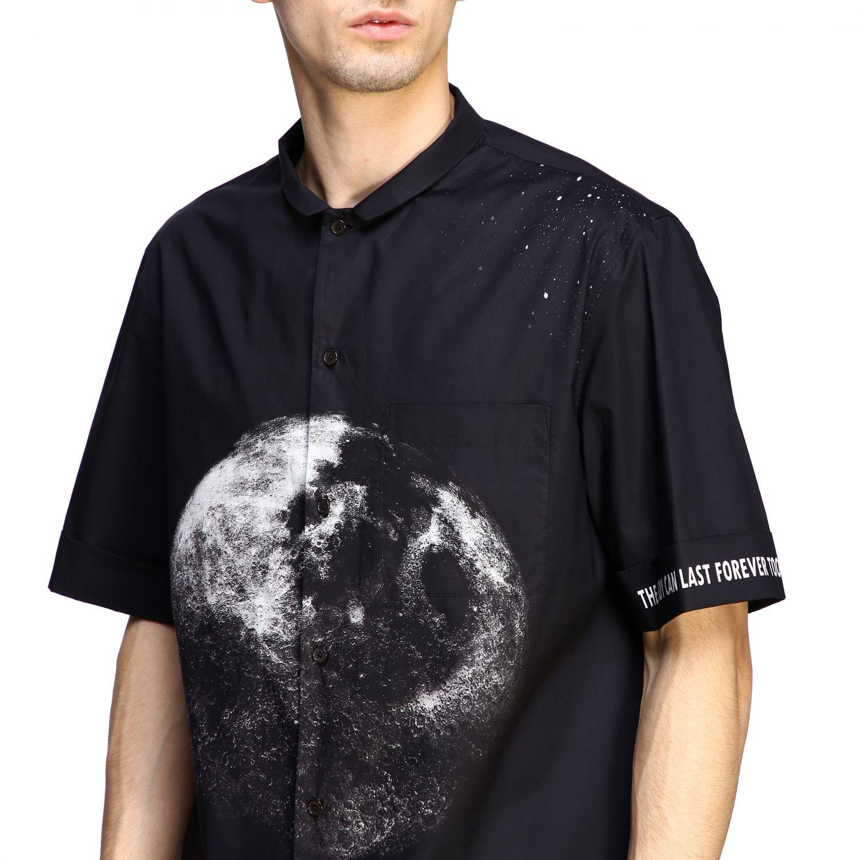 Chemise Valentino: Chemise en coton Valentino avec imprimé moon noir 5