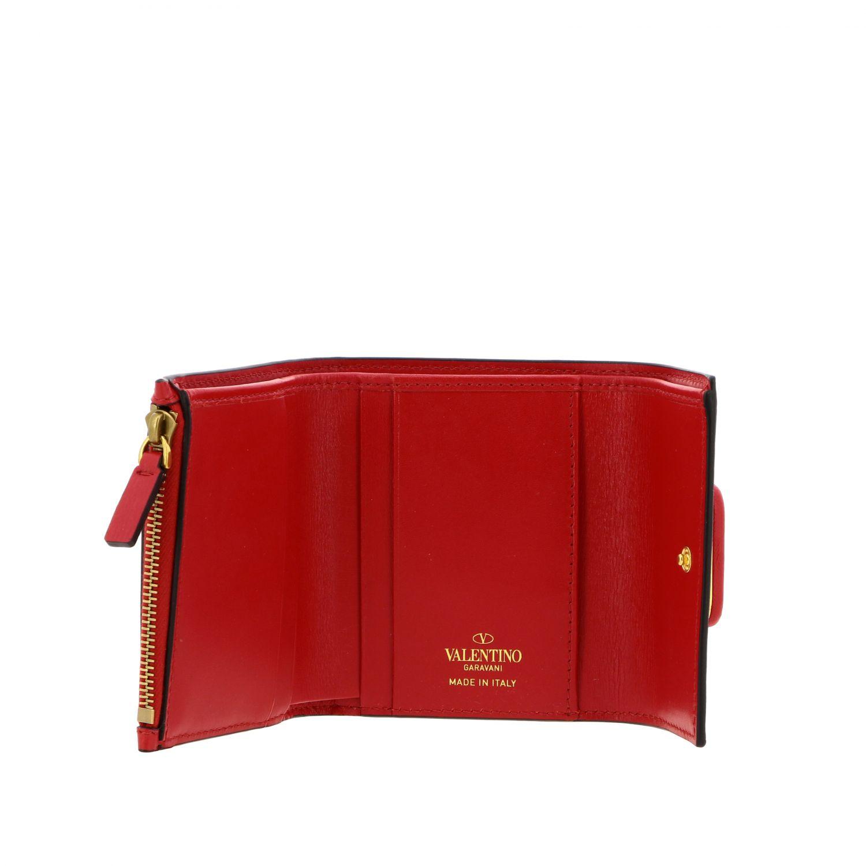 Portafoglio Valentino Garavani mini con VLogo rosso 2