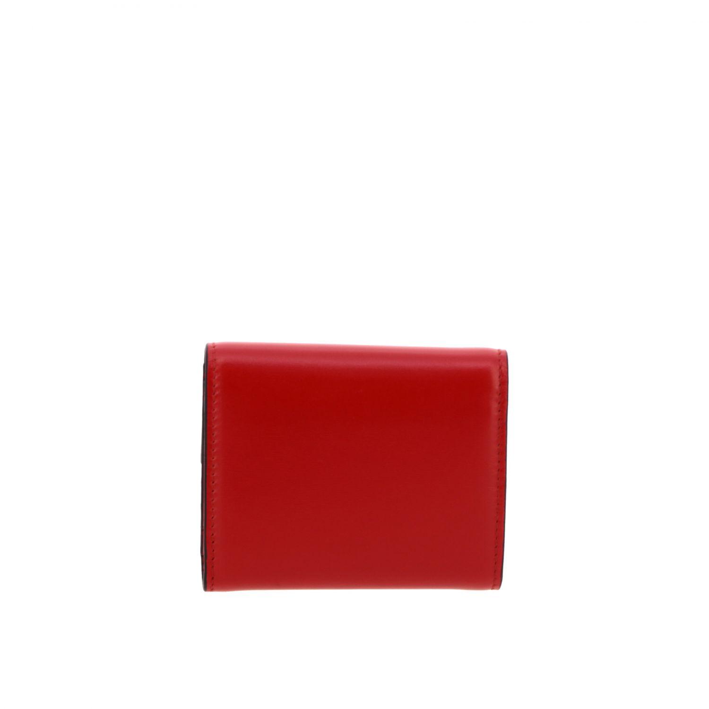 Portafoglio Valentino Garavani mini con VLogo rosso 3
